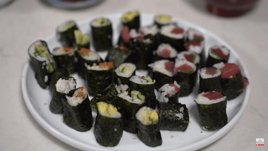 homemade makizushi