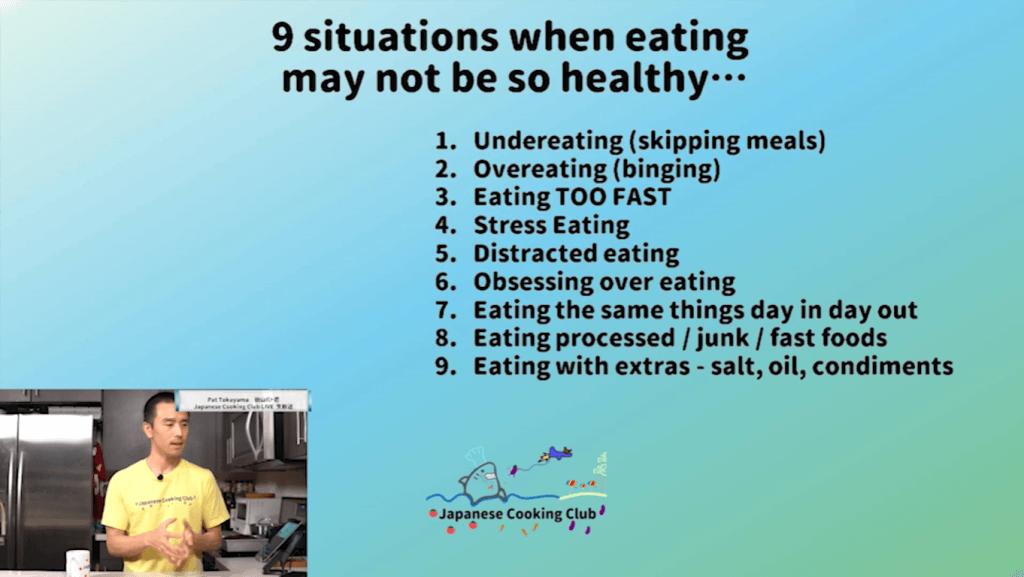 9 unhealthy eating
