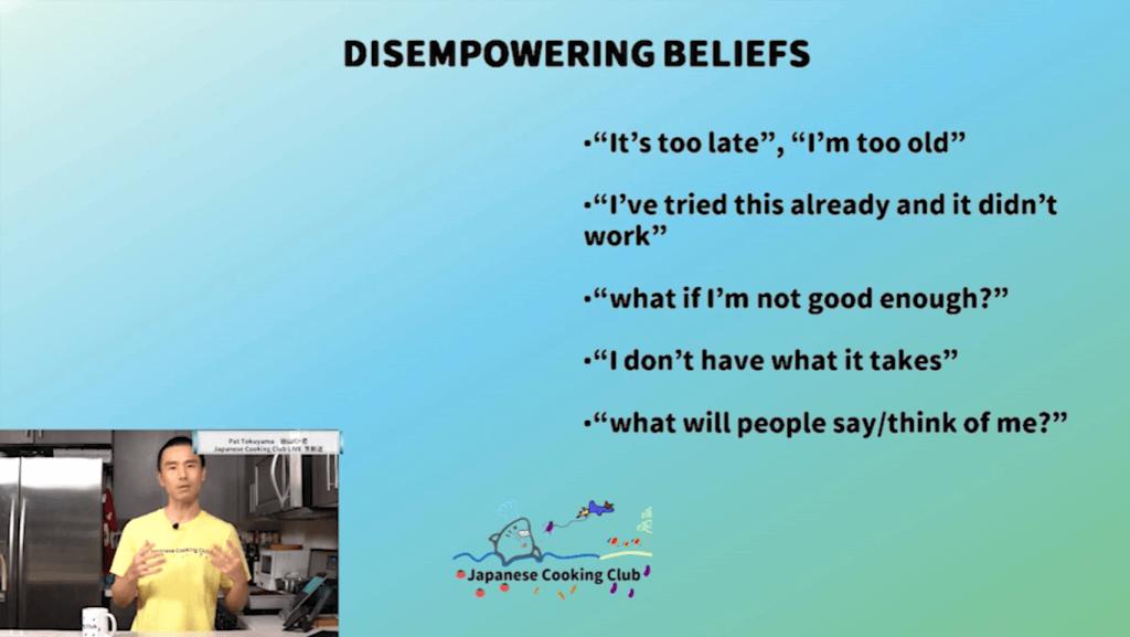 Disempowering Beliefs