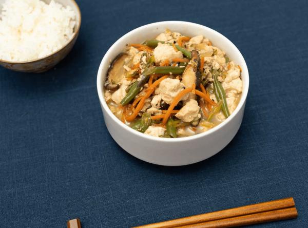 Iridoufu with vegetarian dashi stock