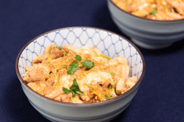 Oyakodon with dashi