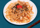 Yakiudon with tofu 焼うどん