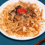 Yakiudon with tofu