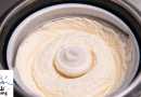 Soy milk ice cream with Honey and Ginger