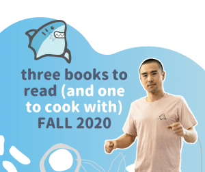 3 books to read and 1 to cook with