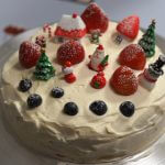 japanese christmas cake on cake turner