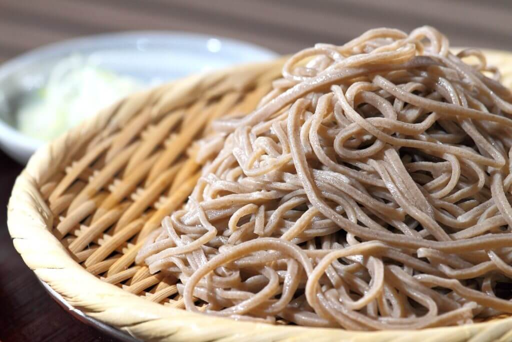 buckwheat soba noodles cooked